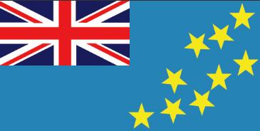 ツバル Tuvalu   国旗 位置図 国旗の由来 イギリス連邦の一員であることを示す英国国旗.