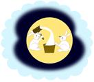 月の中のウサギ
