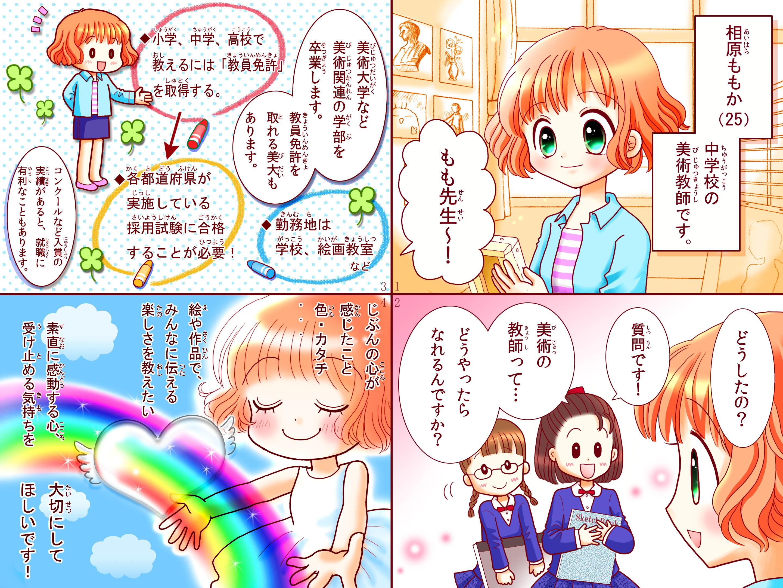 美術教師 art teacher 女の子に人気 さくら sakura あこがれの職業紹介